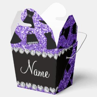 Monedero púrpura conocido de encargo del vestido cajas para regalos