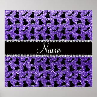 Monedero púrpura conocido de encargo del vestido d impresiones