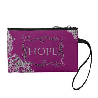 Monedero púrpura de la esperanza