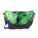 Monedero púrpura de la foto del arte abstracto del bolsas de mensajería