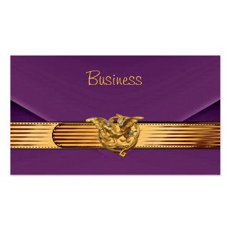 Monedero púrpura del embrague del oro del terciope tarjetas de negocios