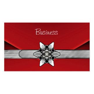 Monedero rojo del embrague de la plata del terciop tarjetas de visita