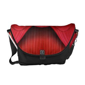 Monedero rojo del tote del bolso del teatro de la bolsas de mensajería