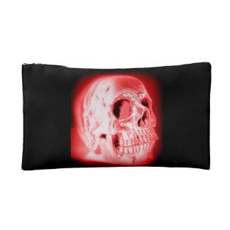 Monedero rojo y negro del cráneo