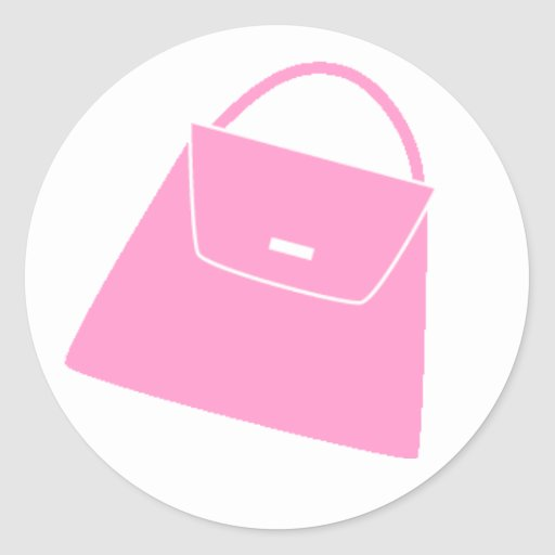 Monedero rosado pegatina redonda