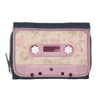 Monedero rosado suave del casete del vintage