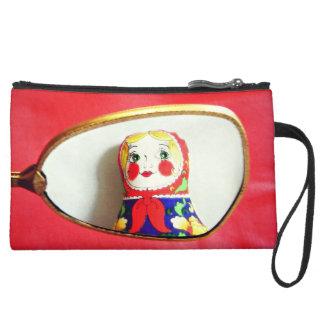 Monedero ruso de la muñeca Daria espejo de vanid