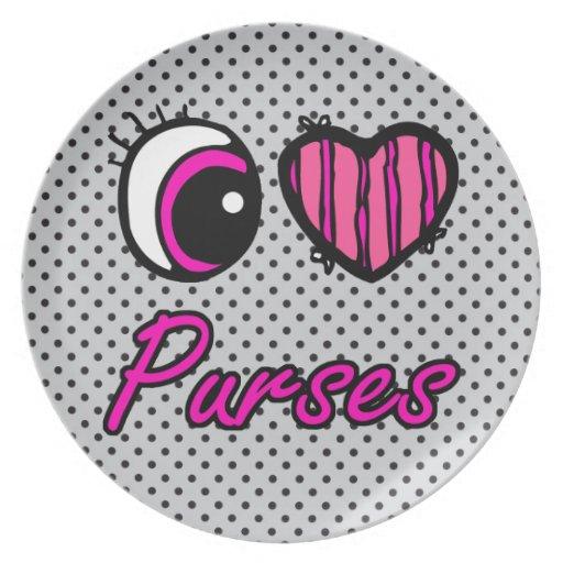 Monederos del amor del corazón I del ojo de Emo Platos Para Fiestas