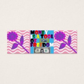 monej... mini business card