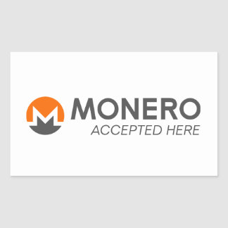 Monero Accepted Here Rectangle Stickers