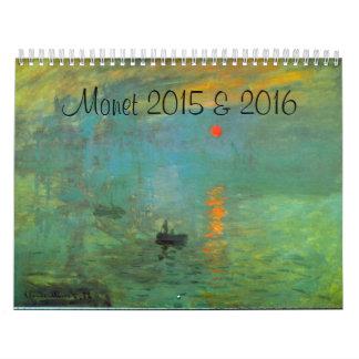 Monet 2015 and 2016 French Art 2 Year Calendar