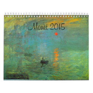 Monet 2016 French Art Calendar