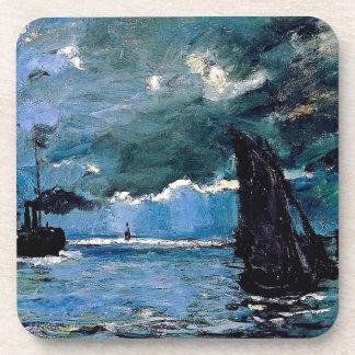 Monet A Seascape Shipping Beverage Coaster