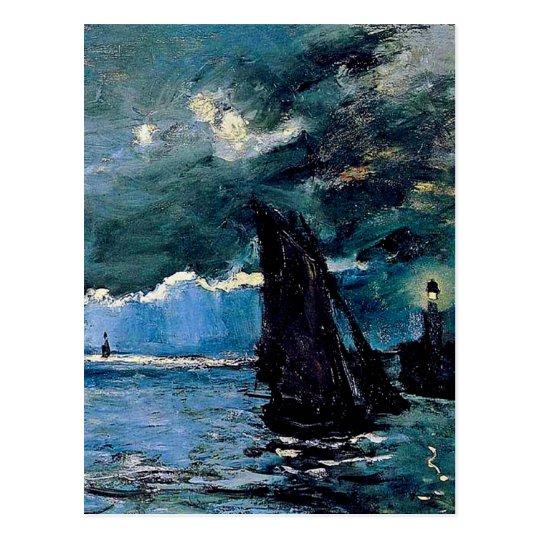Monet A Seascape Shipping Postcard