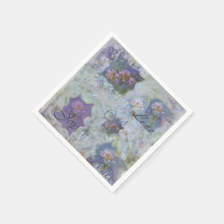 Monet Agapanthus Paper Napkin