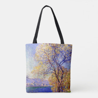 Monet - Antibes Seen from the Salis Gardens Tote Bag