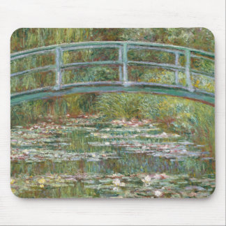 Monet Art Bridge over a Pond of Water Lilies Mouse Pad