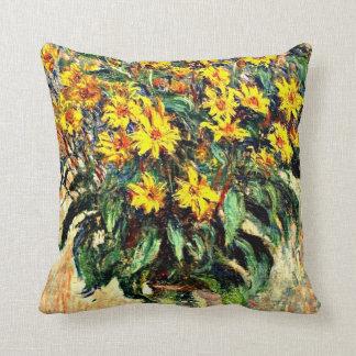 Monet art: Jerusalem Artichokes Throw Pillow