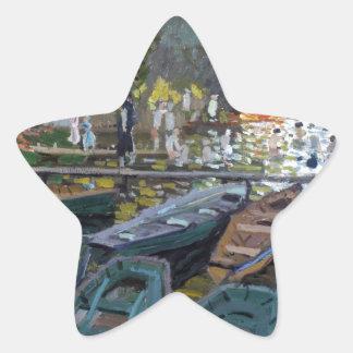 Monet Bathers at La Grenouillère Star Sticker