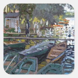 Monet Bathers at La Grenouillère Square Sticker