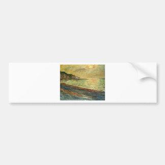 Monet Beach At Pourville Bumper Sticker