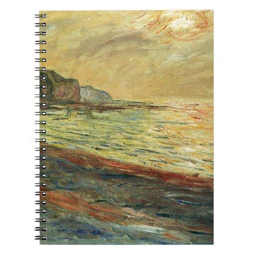 Monet Beach At Pourville Notebook
