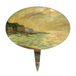 Monet Beach At Pourville Oval Cake Picks