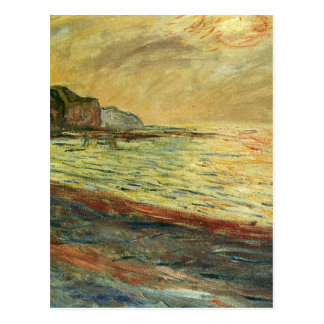 Monet Beach At Pourville Postcard