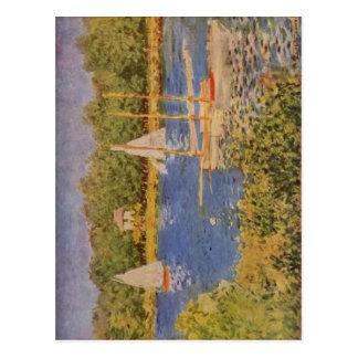 Monet, bei Argenteuil 1874 de Claude Das Seinebeck Tarjeta Postal