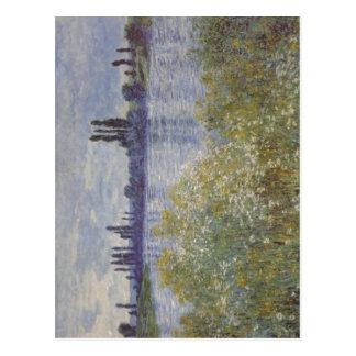 ¿Monet bei V de Claude Seineufer theuil Techn 18 Tarjeta Postal