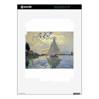 Monet boat water Sailing in Le-Petit-Gennevillie iPad 2 Skins