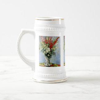 MONET Bouquet of Gladiolas 18oz Beer Stein Mug