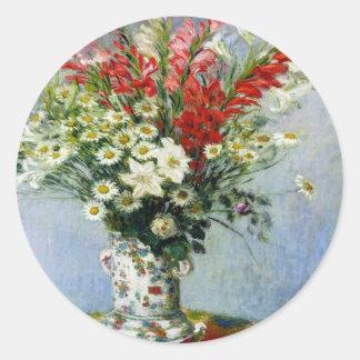 MONET Bouquet of Gladiolas Fun Flower Stickers