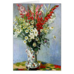 MONET Bouquet of Gladiolas Greeting Card