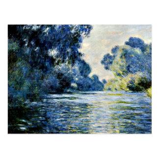 Monet - brazo del Sena en Giverny Postales