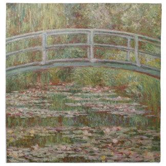 Monet Bridge Over Lily Pond Impressionist Napkin