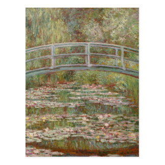 Monet Bridge Over Lily Pond Impressionist Postcard