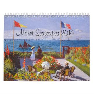 Monet Calendar For 2014 ~ Monet Seascapes Calendar