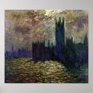 Monet-Casas de Claude del parlamento Poster