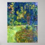 Monet - charca del lirio de agua en Giverny Posters
