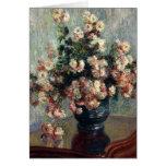 Monet Chrysanthemums Greeting Card