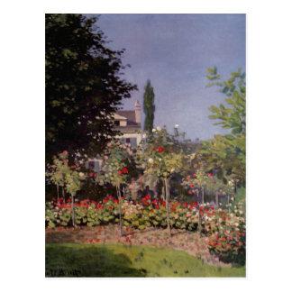 ¿Monet, Claude Bl? hender Garten en Sainte-Adresse Tarjetas Postales