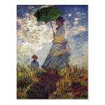 Monet, Claude Camille Monet und Sohn Jean auf dem  Postcard