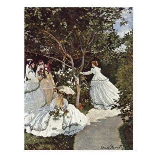 Monet, Claude Frauen im Garten 1866-1867 Technique Postcard