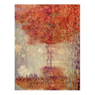 Monet, Claude Herbst in Argenteuil 1873 Technique  Postcard