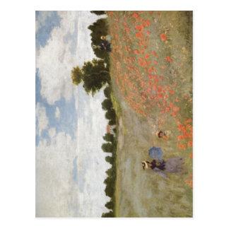 Monet, Claude Mohnblumen 1873 Technique ?l auf Lei Postcard