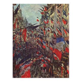 Monet, Claude Rue Staint-Denis am Nationalfeiertag Post Cards