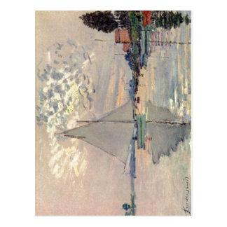Monet, Claude Segelboot en Le-Pequeno-Gennevillier Postal