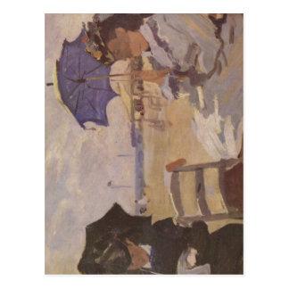Monet, Claude Strand von Trouville Techniq 1870 Tarjetas Postales