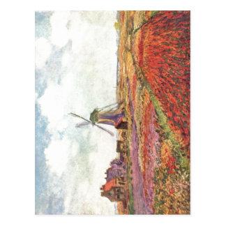 Monet, Claude Tulpen von Holland 1872 Technique ?l Postcard